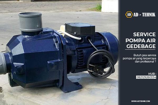 service pompa air gedebage